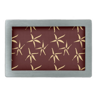 3 flowers rectangular belt buckle