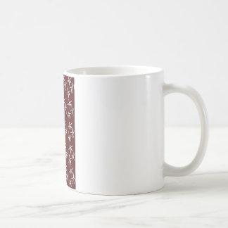 3 flowers -white coffee mug