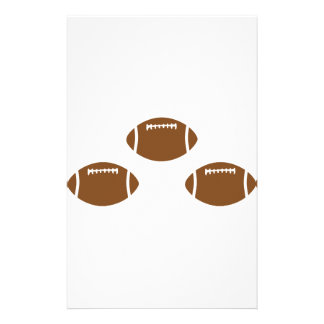 3 footballs stationery