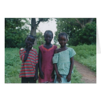3 gambia village children card