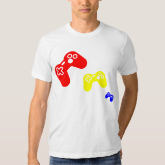 3 game controllers tee shirt