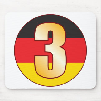 3 GERMANY Gold Mouse Pad