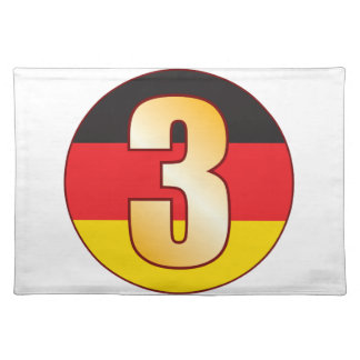 3 GERMANY Gold Placemat