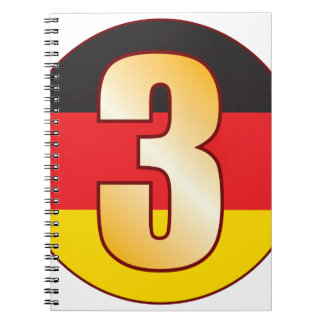3 GERMANY Gold Spiral Notebook