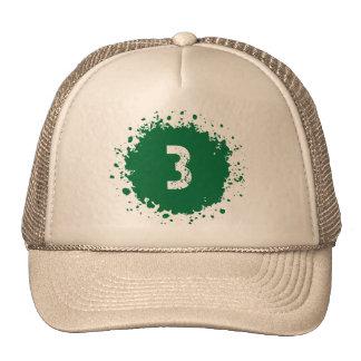 #3 Green Splatter Cap