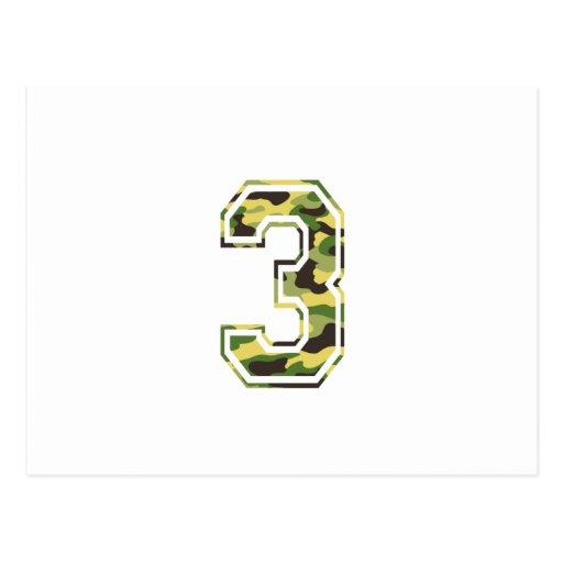#3 Green & Yellow Camo Post Card