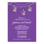 3 Hanging Mason Jars - Engagement Party 13 Cm X 18 Cm Invitation Card