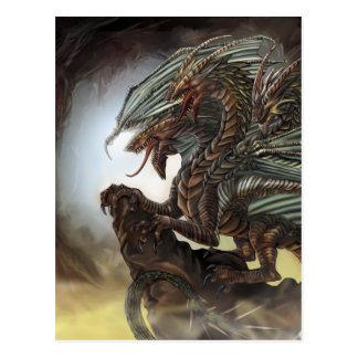 3-Headed Dragon Postcard