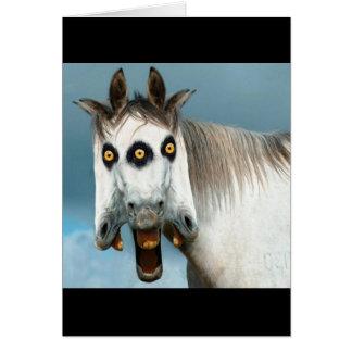 3-Headed Horse Greeting Card