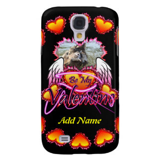 3 Hearts Angel Wings Be My Valentine sign Samsung Galaxy S4 Cover