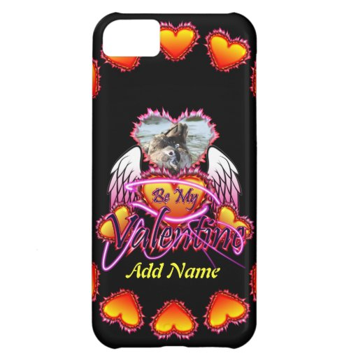 3 Hearts Angel Wings Be My Valentine sign. Case For iPhone 5C