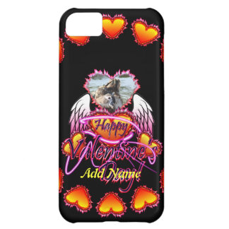 3 Hearts Angel Wings Happy Valentine s Day sign iPhone 5C Cases