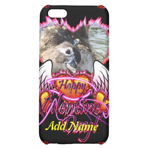 3 Hearts Angel Wings Happy Valentine's Day sign Case For iPhone 5C