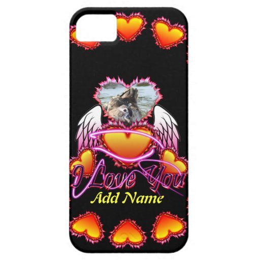 3 Hearts Angel Wings I Love You sign. iPhone 5 Case