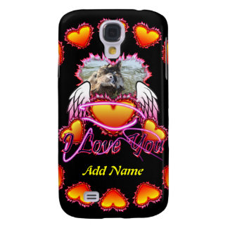 3 Hearts Angel Wings I Love You sign Samsung Galaxy S4 Covers