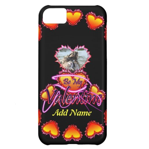 3 Hearts Be My Valentine neon sign iPhone 5C Cover