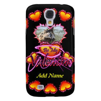 3 Hearts Be My Valentine neon sign Galaxy S4 Case