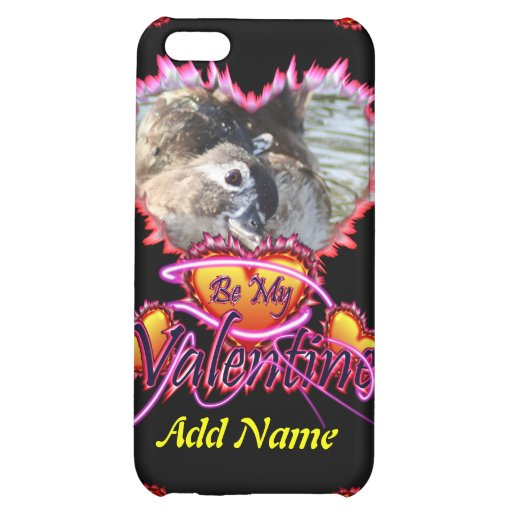 3 Hearts Be My Valentine neon sign iPhone 5C Cases