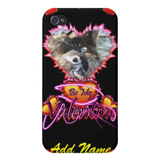 3 Hearts Be My Valentine neon sign Cover For iPhone 4