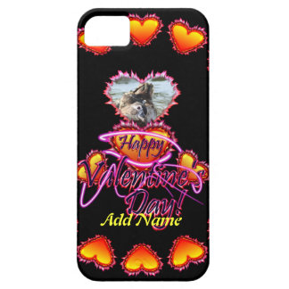 3 Hearts Happy Valentine s Day neon sign iPhone 5 Case