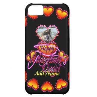 3 Hearts Happy Valentine s Day neon sign Case For iPhone 5C