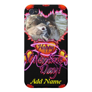3 Hearts Happy Valentine s Day neon sign iPhone 4 Cover