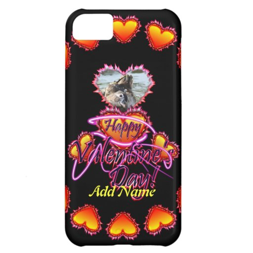 3 Hearts Happy Valentine's Day neon sign Case For iPhone 5C