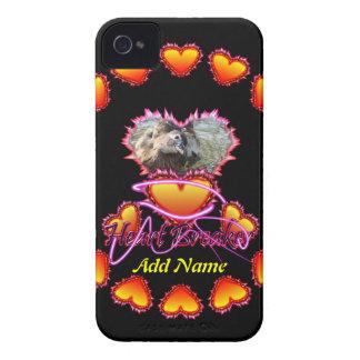 3 Hearts Heart Breaker neon sign iPhone 4 Cases