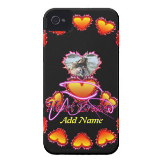 3 Hearts Heart Breaker neon sign iPhone 4 Case-Mate Case