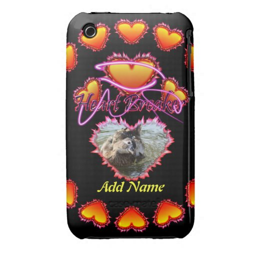 3 Hearts Heart Breaker neon sign iPhone 3 Cover
