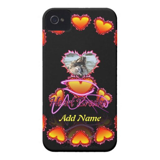 3 Hearts Heart Breaker neon sign Case-Mate iPhone 4 Case
