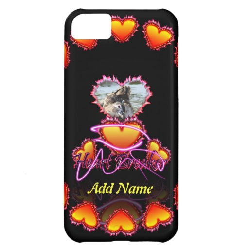 3 Hearts Heart Breaker neon sign iPhone 5C Cases