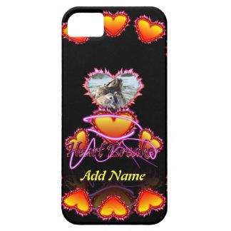 3 Hearts Heart Breaker neon sign iPhone 5 Cases