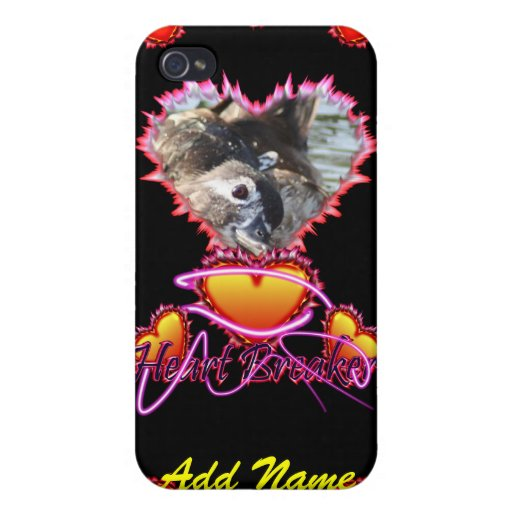 3 Hearts Heart Breaker neon sign iPhone 4/4S Cover