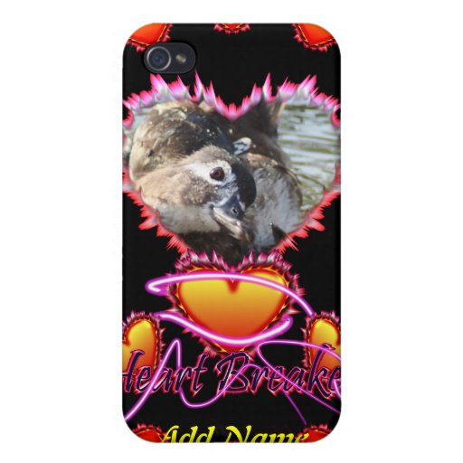 3 Hearts Heart Breaker neon sign Covers For iPhone 4