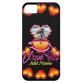 3 Hearts I Love You neon sign iPhone 5 Covers