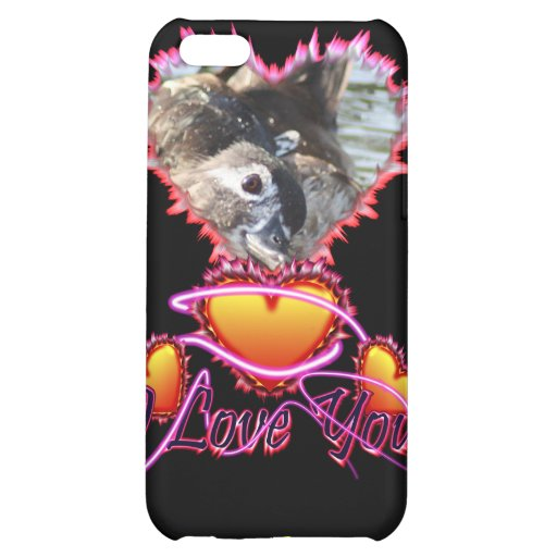3 Hearts I Love You neon sign Case For iPhone 5C