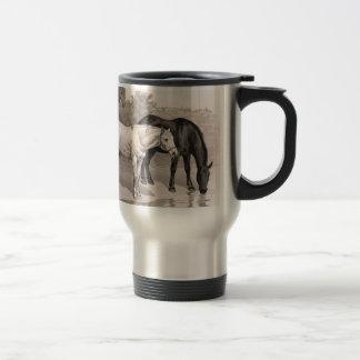 3 Horses, B&W Mugs