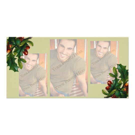 3 image Christmas Photo Cards