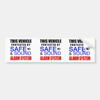 3 in 1 Fake Alarm System Sticker for your car!