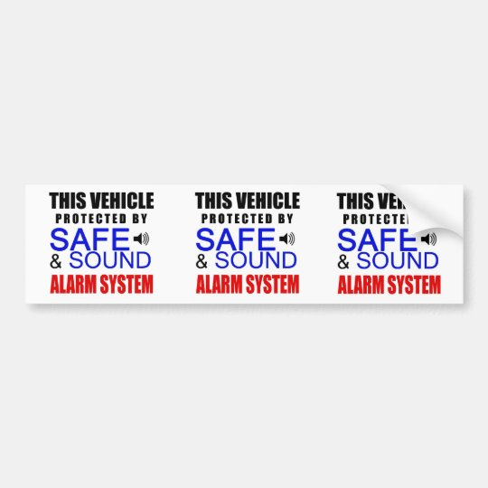 3 in 1 Fake Alarm System Sticker for