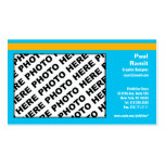 3 in 1 Photo Calendar and Business Card Blue