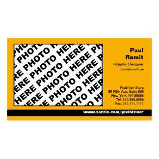 3 in 1 Photo Calendar and Business Card Orange