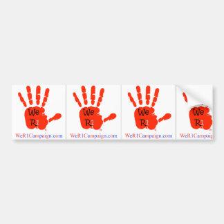3-in-1 We R1 Campaign Bumper Stickers