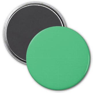 3 Inch Round Fridge Magnet: Medium Sea Green.