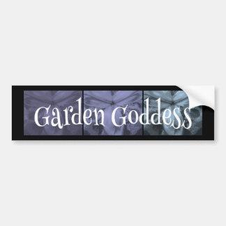 "3 Irises: ""Garden Goddess"" Cool Frost1 colors Bumper Stickers"