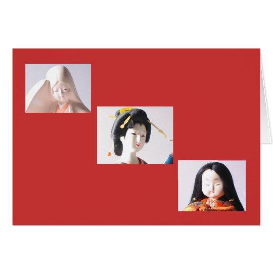 3 Japanese Dolls Card