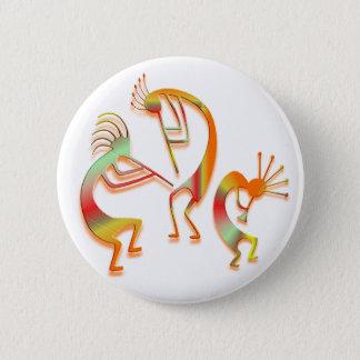 3 Kokopelli #51 6 Cm Round Badge