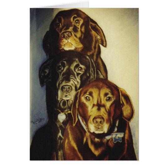 """""""3 Labradors"""" Card"""