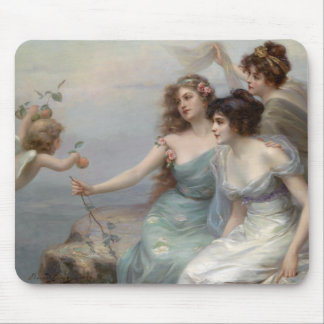 3 Ladies and Angel Mouse Mat
